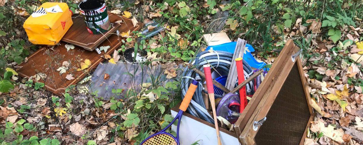 Illegale Müllentsorgung Oktober 2018