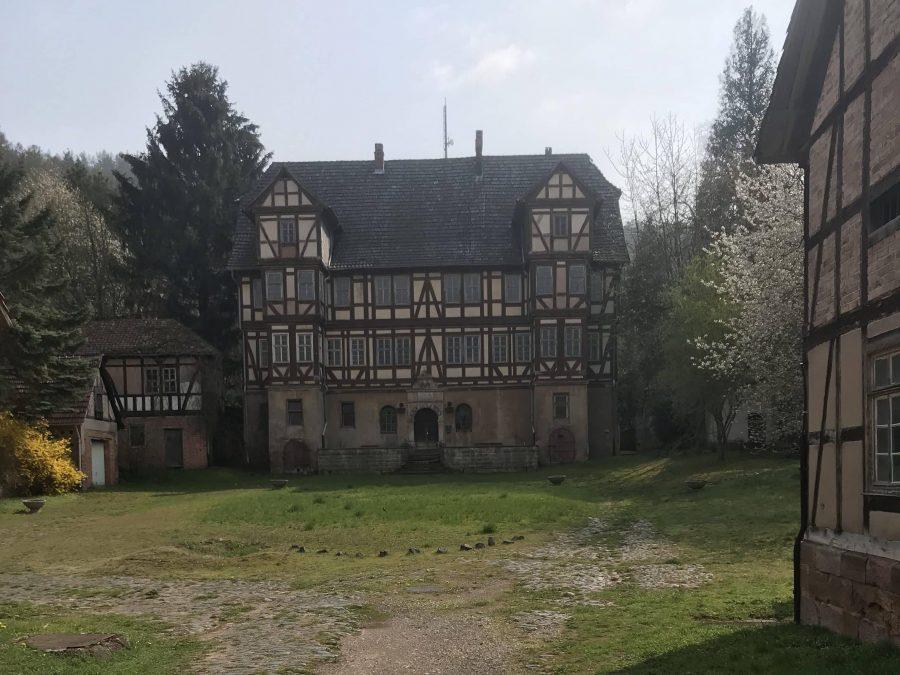 Das Herrenhaus des Schlosses Aue.