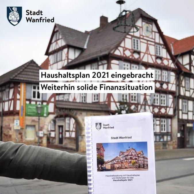 Bild Pressemitteilung vom 11.12.2020 Haushaltsplan 2021 eingebracht – Steuern und Gebühren sollen unverändert bleiben