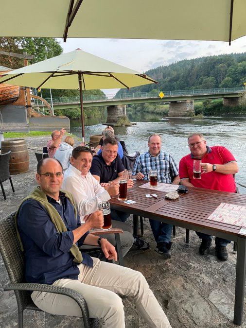 v.l.n.r.: Michael Reinz (Stadt Treffurt), Andreas Henning (Landgemeinde Südeichsfeld), Wilhelm Gebhard (Stadt Wanfried), Thomas Mäurer (Gemeinde Weißenborn) und Martin Kozber (Gemeinde Geismar).